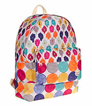 Roxy Sugar Baby Acapulco Dots Backpack (Multi Coloured)