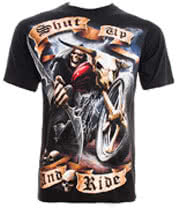 Spiral Direct Shut Up & Ride T Shirt (Black)
